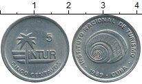 Изображение Монеты Куба 5 сентаво 1989 Медно-никель XF