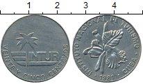 Изображение Монеты Северная Америка Куба 25 сентаво 1981 Медно-никель XF
