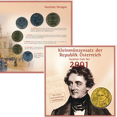 Изображение Подарочные монеты Европа Австрия Набор 2001 года 2001  UNC