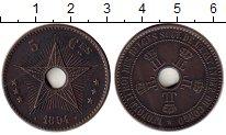 Изображение Монеты Бельгийское Конго 5 сантим 1894 Медь XF