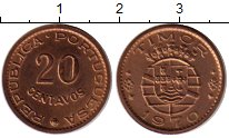 Изображение Монеты Азия Тимор 20 сентаво 1970 Бронза XF