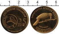 Изображение Монеты Азия Малайзия 25 сен 2004 Латунь UNC