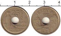 Изображение Монеты Испания 25 песет 1997 Латунь XF