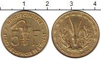 Изображение Монеты Западная Африка 5 франков 1989 Латунь XF