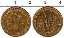 Изображение Монеты Западная Африка 5 франков 1967 Латунь XF