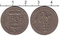 Изображение Монеты Западная Африка 50 франков 1982 Медно-никель XF