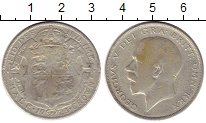 Изображение Монеты Великобритания 1/2 кроны 1923 Серебро VF
