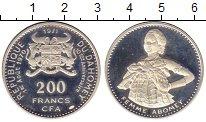 Изображение Монеты Бенин Дагомея 200 франков 1971 Серебро Proof