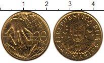 Изображение Монеты Европа Сан-Марино 20 лир 2000 Латунь UNC