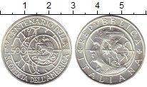 Изображение Монеты Европа Италия 500 лир 1990 Серебро UNC