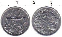 Изображение Монеты Африка Эфиопия 1 цент 1977 Алюминий UNC-