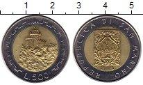 Изображение Монеты Сан-Марино 500 лир 1988 Биметалл UNC