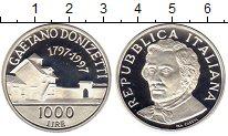 Изображение Монеты Италия 1000 лир 1997 Серебро Proof
