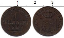 Изображение Монеты Германия Пруссия 1 пфенниг 1821 Медь VF