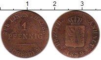 Изображение Монеты Германия Анхальт-Бернбург 1 пфенниг 1839 Медь VF