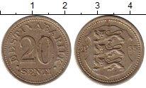 Изображение Монеты Эстония 20 сенти 1935 Медно-никель XF-