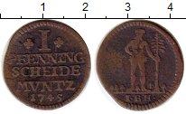 Изображение Монеты Брауншвайг-Вольфенбюттель 1 пфенниг 1745 Медь VF