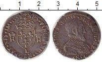 Изображение Монеты Европа Франция 1 тестон 1558 Серебро VF+