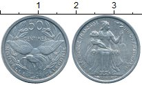 Изображение Монеты Новая Каледония 50 сантим 1949 Алюминий XF+