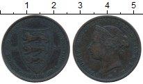 Изображение Монеты Остров Джерси 1/24 шиллингов 1877 Медь VF Виктория