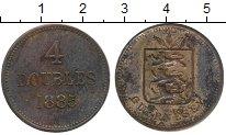 Изображение Монеты Великобритания Гернси 4 дубля 1885 Медь XF-