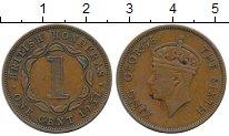 Изображение Монеты Северная Америка Белиз 1 цент 1951 Бронза XF