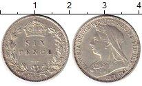Изображение Монеты Европа Великобритания 6 пенсов 1897 Серебро UNC-