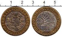 Изображение Монеты Австрия 50 шиллингов 1999 Биметалл UNC- Евровалюта