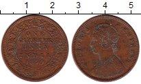 Изображение Монеты Индия 1/4 анны 1879 Медь XF- Виктория