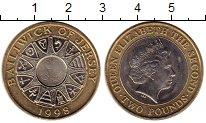 Изображение Монеты Остров Джерси 2 фунта 1998 Биметалл UNC