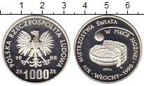 Изображение Монеты Польша 1000 злотых 1988 Серебро Proof Чемпионат мира по фу