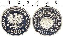 Изображение Монеты Польша 500 злотых 1986 Серебро Proof Чемпионат мира по фу
