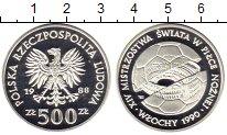 Изображение Монеты Польша 500 злотых 1988 Серебро Proof Чемпионат  мира  по