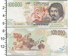 Изображение Банкноты Италия 100000 лир 1994  UNC