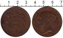 Изображение Монеты Остров Джерси 1/13 шиллинга 1841 Медь XF