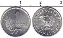 Изображение Монеты Польша 1 грош 1949 Алюминий UNC-