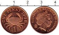 Изображение Монеты Великобритания Гернси 1 пенни 1998 Бронза UNC-