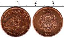 Изображение Монеты Гайана 1 доллар 2002 Бронза UNC-