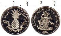 Изображение Монеты Северная Америка Багамские острова 5 центов 1976 Медно-никель Proof-
