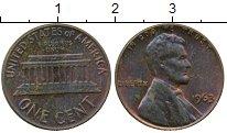 Изображение Монеты Северная Америка США 1 цент 1963 Бронза XF