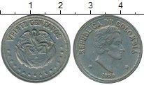 Изображение Монеты Южная Америка Колумбия 20 сентаво 1959 Медно-никель XF