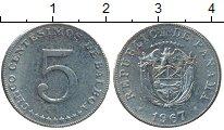 Изображение Монеты Панама 5 сентесим 1967 Медно-никель XF