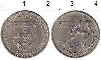 Изображение Монеты Португалия 2 1/2 эскудо 1982 Медно-никель UNC-