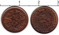 Изображение Монеты Европа Нидерланды 1/2 цента 1936 Бронза XF
