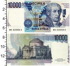Изображение Банкноты Италия 10000 лир 1984  UNC Портрет А. Вольта. П