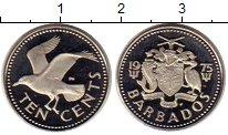 Изображение Монеты Северная Америка Барбадос 10 центов 1975 Медно-никель Proof-