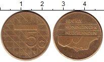 Изображение Монеты Нидерланды 5 гульденов 1989 Латунь XF Биатрикс