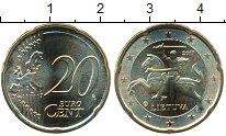 Изображение Мелочь Литва 20 евроцентов 2017 Латунь UNC