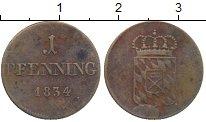Изображение Монеты Германия Бавария 1 пфенниг 1834 Медь XF-