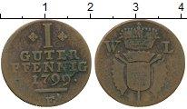 Изображение Монеты Германия Шаумбург-Гессен 1 пфенниг 1799 Медь VF